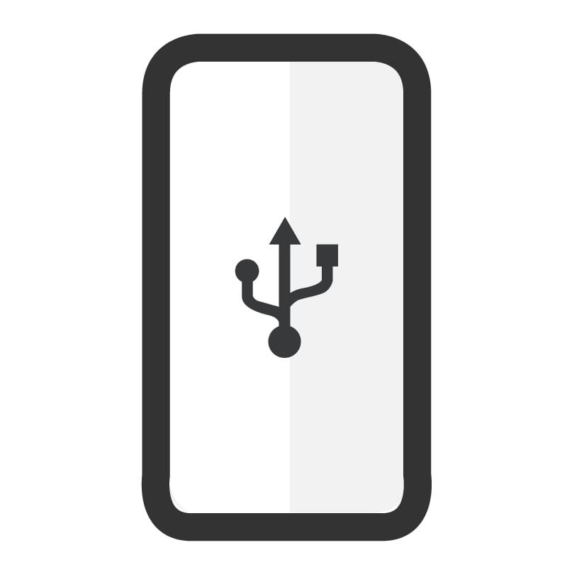 Cambiar conector de carga Samsung A20E - Imagen 1