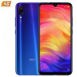 SMARTPHONE MÓVIL XIAOMI REDMI NOTE 7 BLUE - 6.3'/16CM - OC 1.95GHZ - 4GB RAM - 64GB - CAM 48+5/13 MP - 4G - DUAL SIM - BAT 4000M