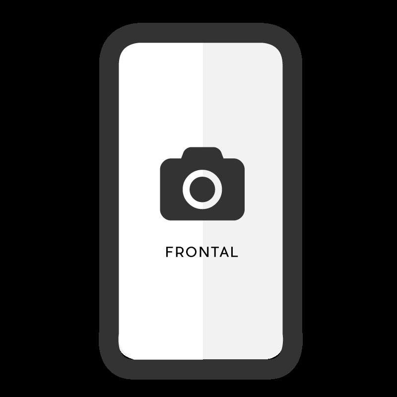 Cambiar cámara frontal iPhone XS Max